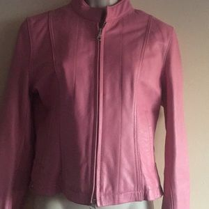 Wilson Leather Maxima Pink Jacket - size Small